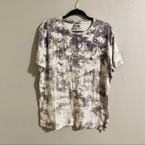 PRPS Goods & Co Bleached Look T Shirt Sz L